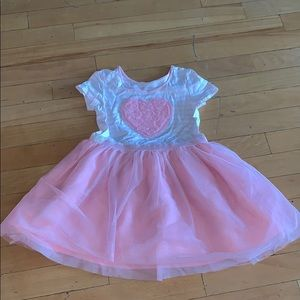 The children's place tutu heart dress 4t